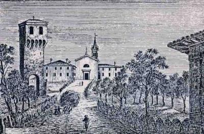 il Borgo in un'antica incisione
