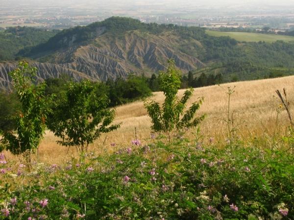 La Palazzina - vista sui calanchi del Parco dell'Abbadessa